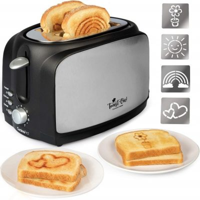 Toast on! Happy Toaster