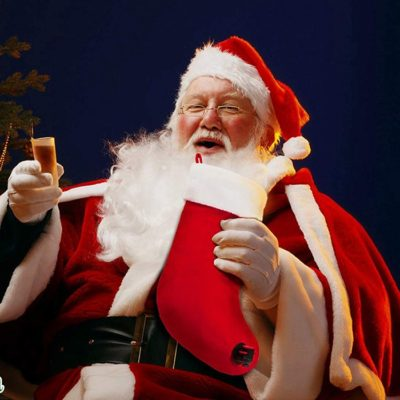 Sneeky Santa's Wine Stocking Flask [Drinking Santa]